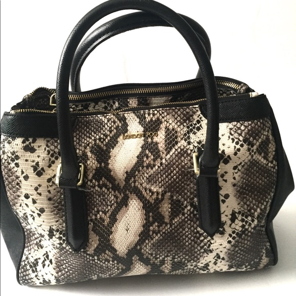 London Fog Handbags - London Fog Snakeskin Satchel Purse